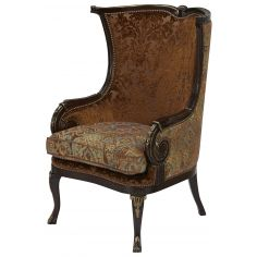 Eclectic accent chair