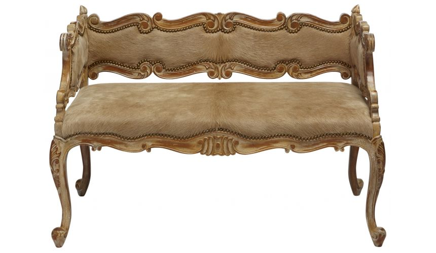 SETTEES, CHAISE, BENCHES Wild west collection hair on hide bench
