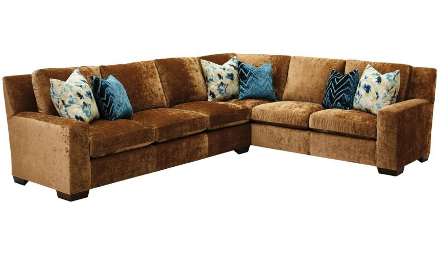 Luxury Leather & Upholstered Furniture Colorful straight back sectional