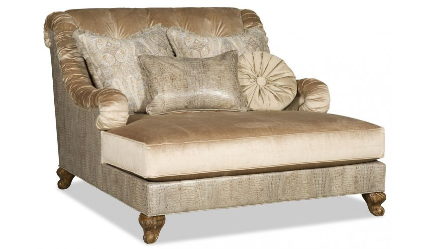 SETTEES, CHAISE, BENCHES Grand over sized chaise