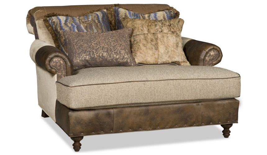 SETTEES, CHAISE, BENCHES Grand western style chaise