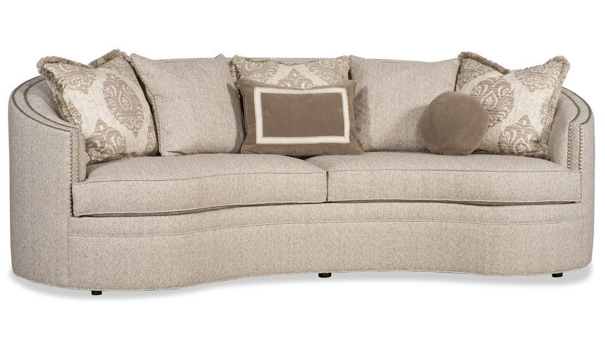 SOFA, COUCH & LOVESEAT Elegant sofa in a chic herringbone fabric