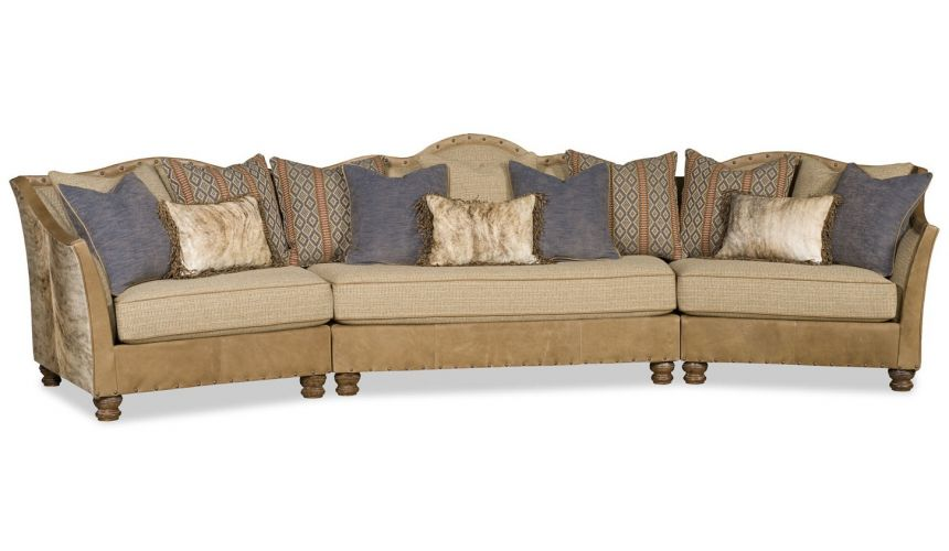 SECTIONALS - Leather & High End Upholstered Furniture Grand sectional of western influence