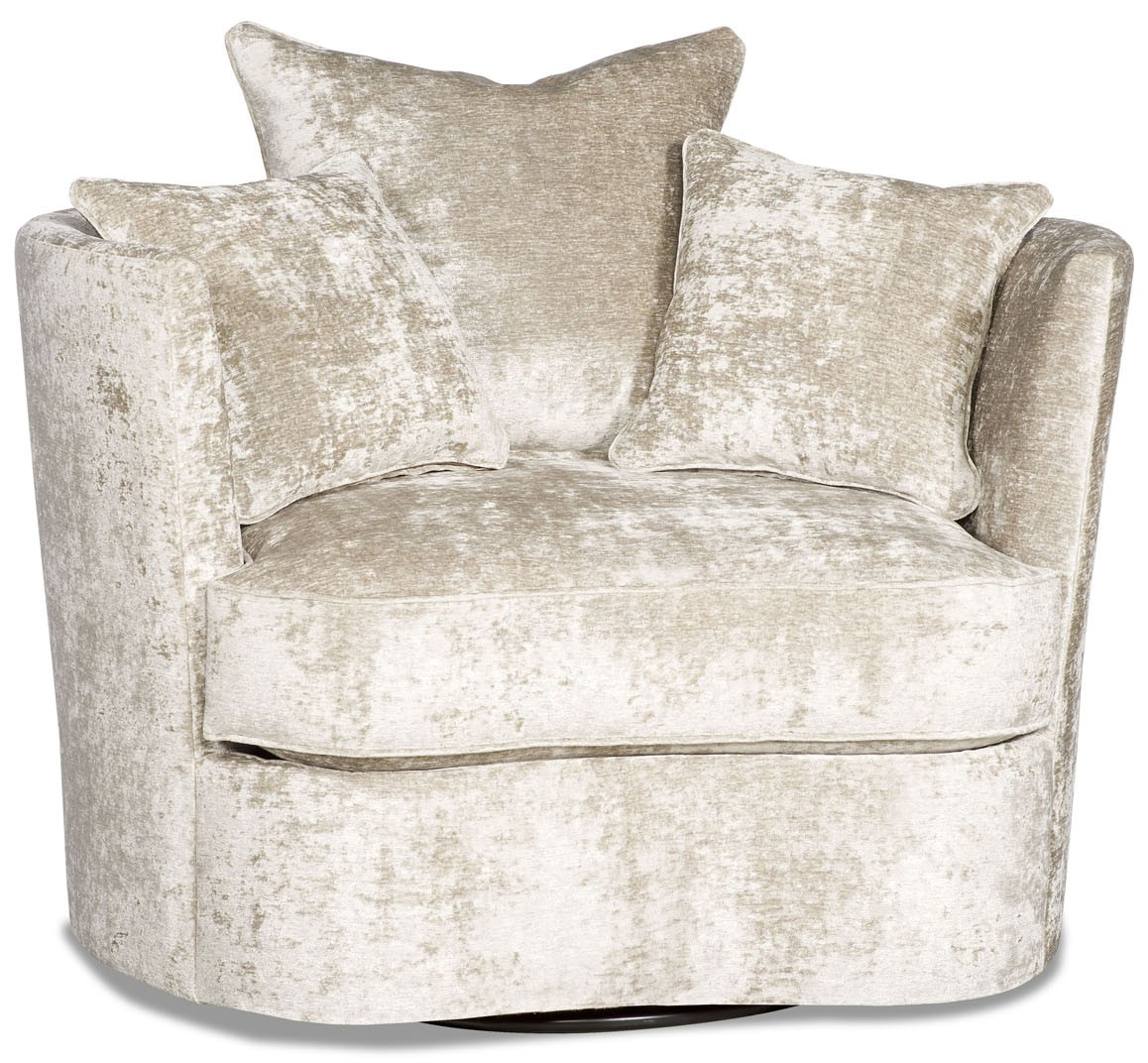 MOTION SEATING   Recliners, Swivels, Rockers Lux Platinum Barrel Style  Swivel Chair