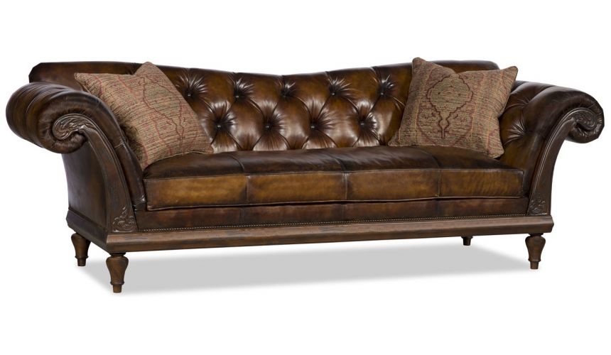 SOFA, COUCH & LOVESEAT Sleek and classy leather sofa