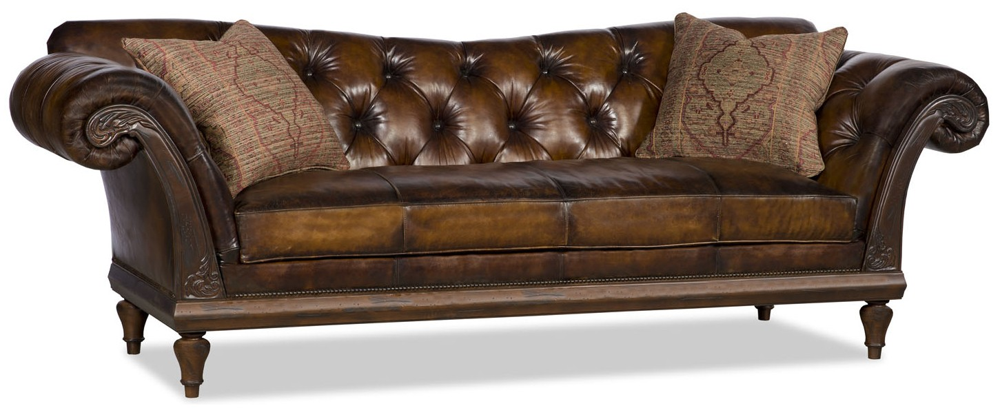 Sleek And Cly Leather Sofa