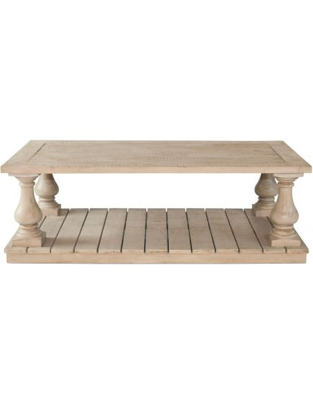 Coffee Tables Traditional Slatted Table