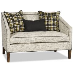 Chic settee with clean modern lines