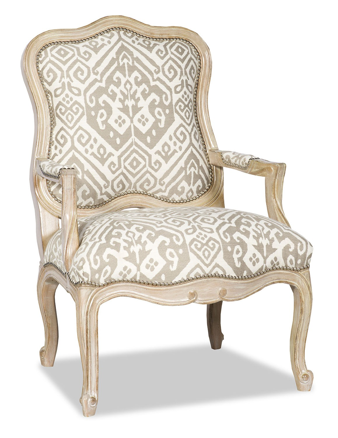 CHAIRS, Leather, Upholstered, Accent Elegant Ikat Armchair