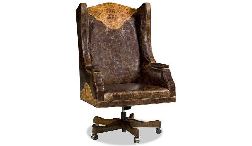 Office Chairs Grand western style desk chair