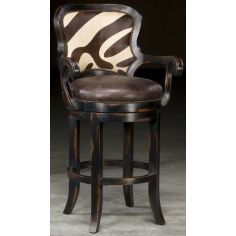 Zebra hair on hide bar stool will look great in your jungle room