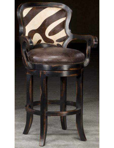 Unique Counter & Bar Stools Zebra hair on hide bar stool will look great in your jungle room