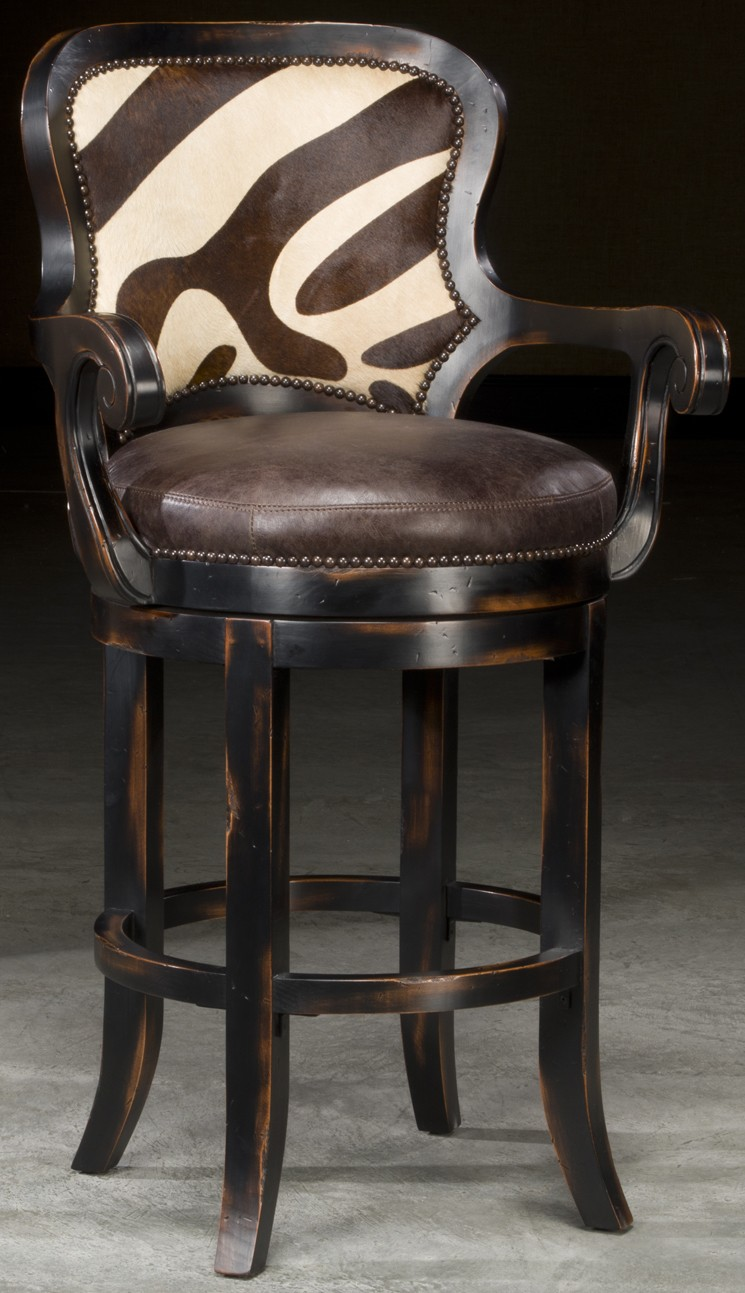Bar And Counter Stools Zebra Hair On Hide Stool Will Look Great In Your Jungle