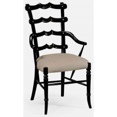 Ladderback armchair