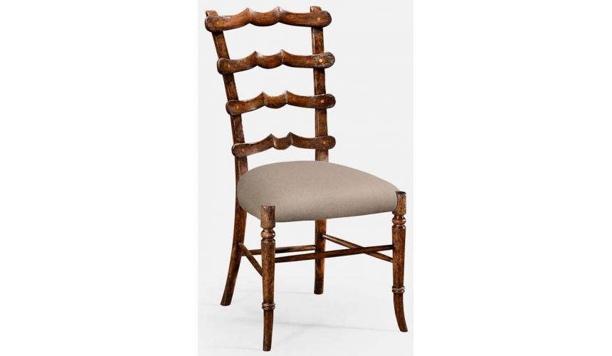 Dining Chairs Walnut ladderback side chair