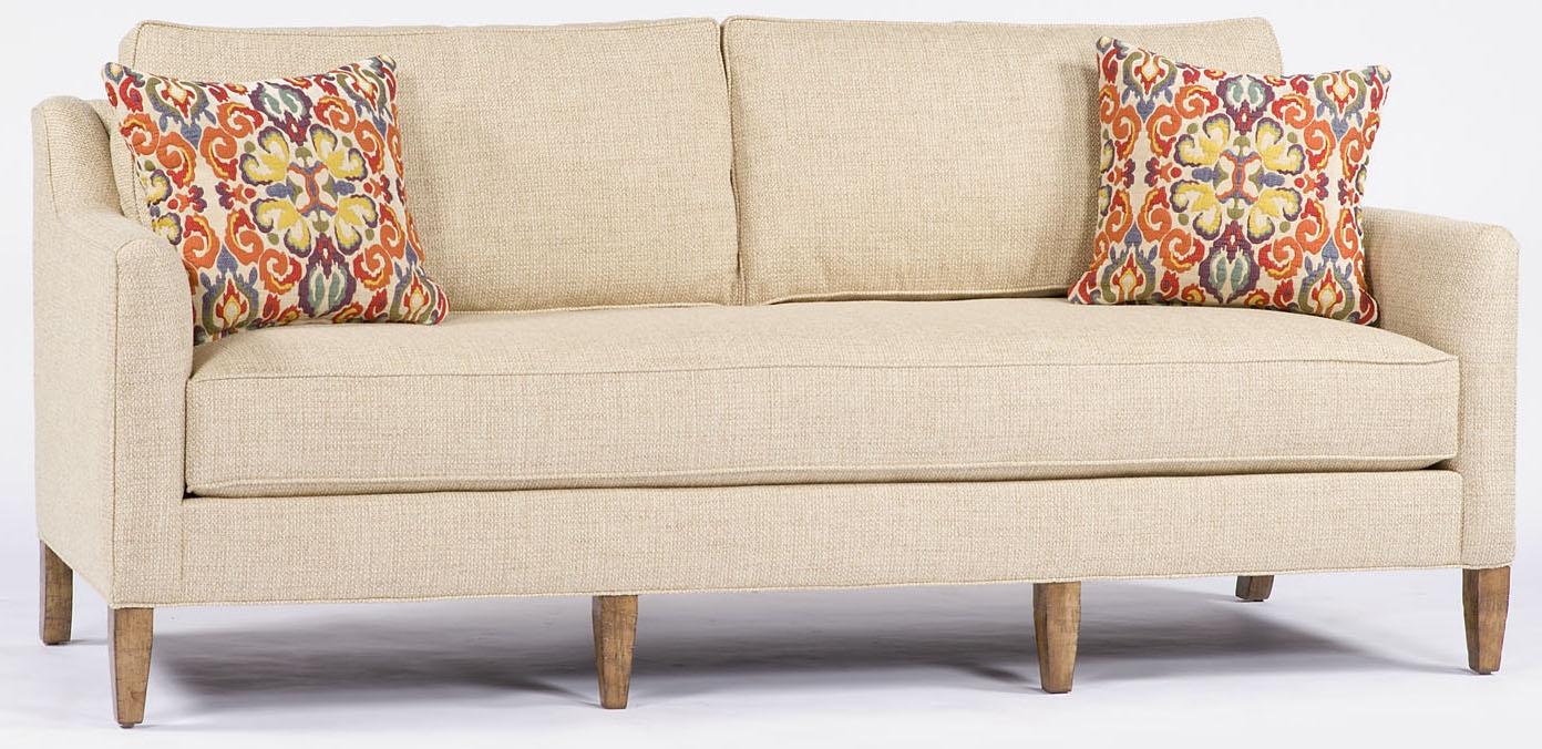 Luxury Leather U0026 Upholstered Furniture Cream Two Cushion Sofa