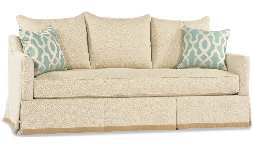 SOFA, COUCH & LOVESEAT Cream Three Pillow Sofa