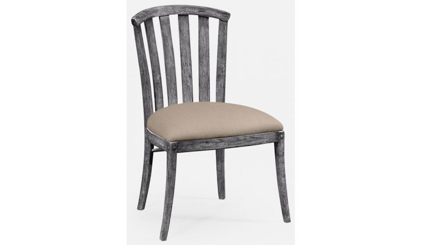 Dining Chairs Dark grey curved back chair