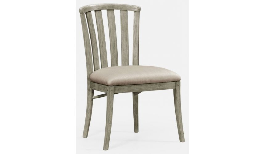 Dining Chairs Rustic curved back chair