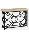 """72"""" limed wood console"""