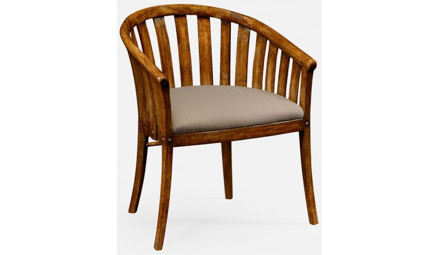 Dining Chairs Country walnut tub chair