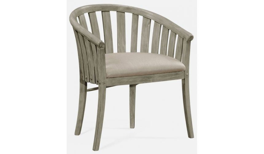 Dining Chairs Rustic tub chair