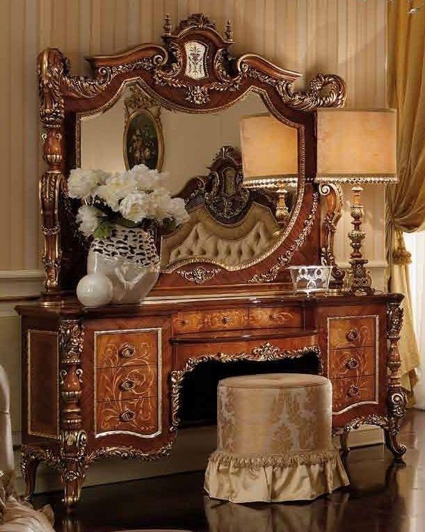 LUXURY BEDROOM FURNITURE Luxury Makeup Vanity. Furniture Masterpiece  Collection.