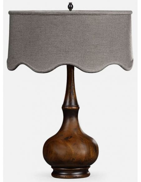 Table Lamps Rustic walnut table lamp
