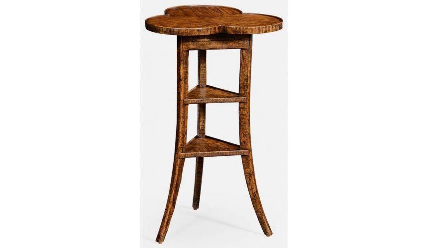 TABLES - SIDE, LAMP & BEDSIDE Plank trefoil side table