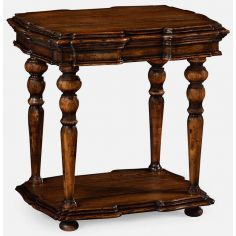 TABLES - SIDE, LAMP & BEDSIDE Rustic walnut side table