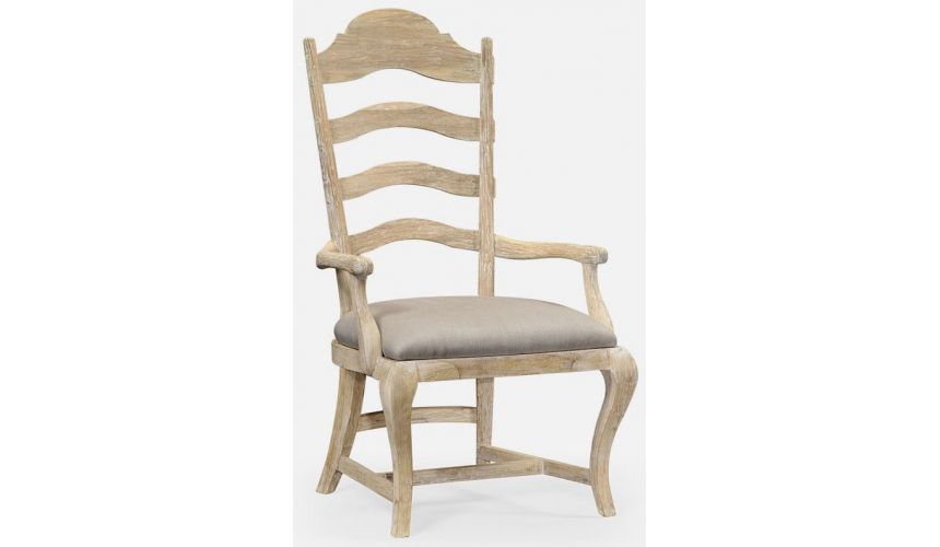 Dining Chairs Limed dining armchair