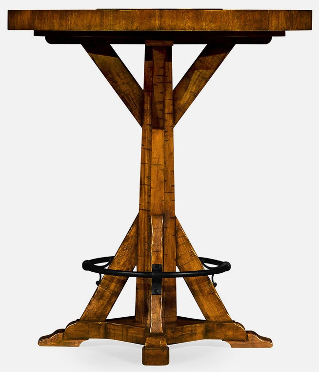 Upscale Bar Furniture Country Walnut Table