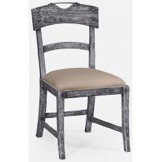 Antique dark grey side chair