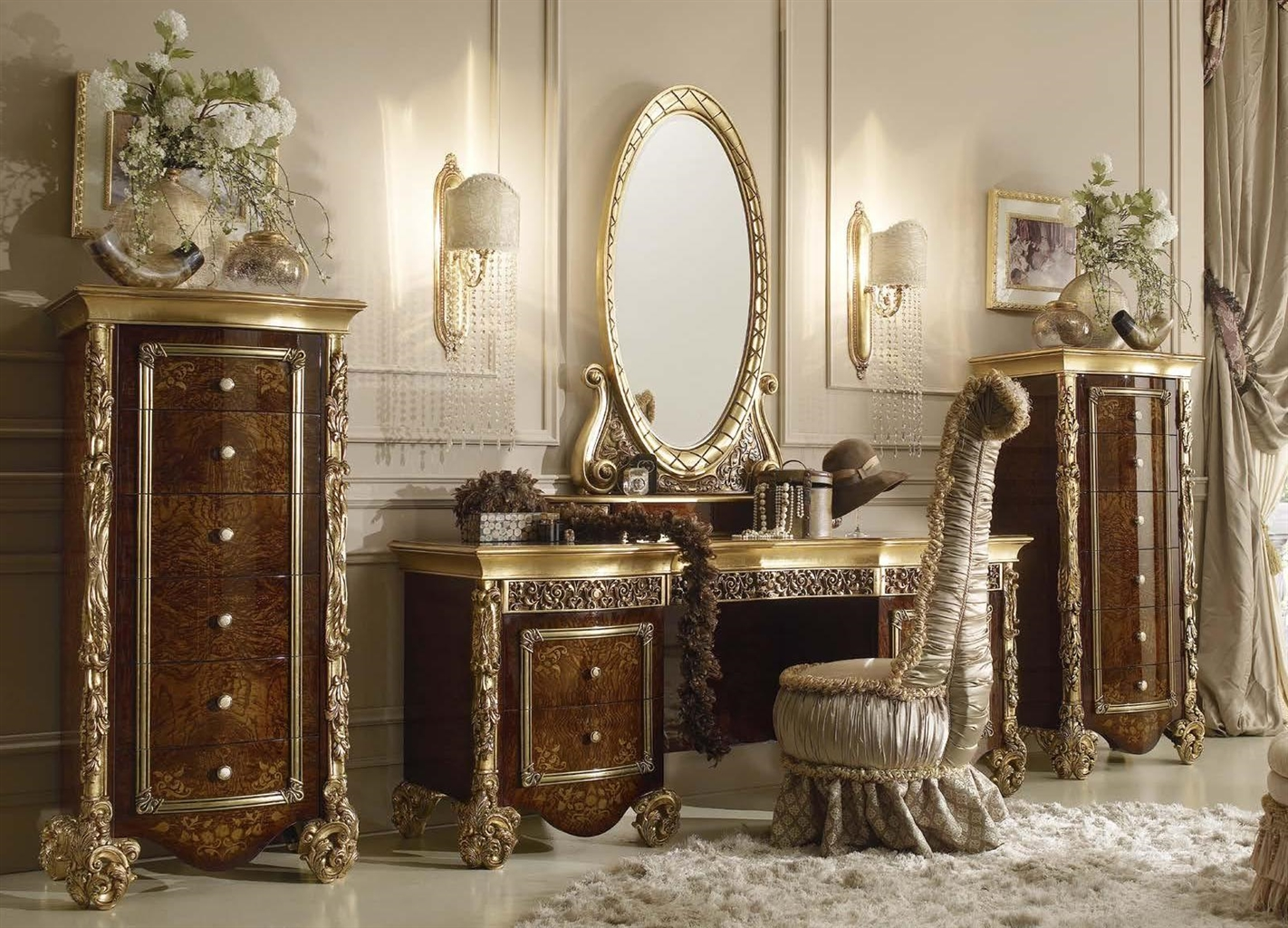 Luxury Makeup Vanity With Mirror Fit For A True Queen Or Princess