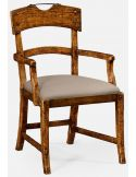 Country walnut armchair