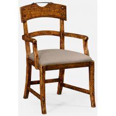 Country walnut armchair