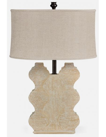 Table Lamps Limed wood table lamp