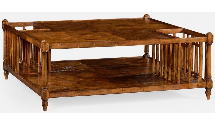 Rectangular and Square Coffee Tables Coffee table with magazine rack