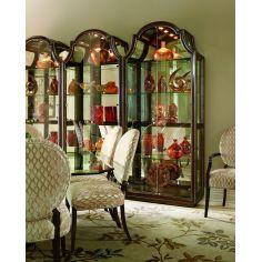 Elegant Glass Front Curio Cabinet