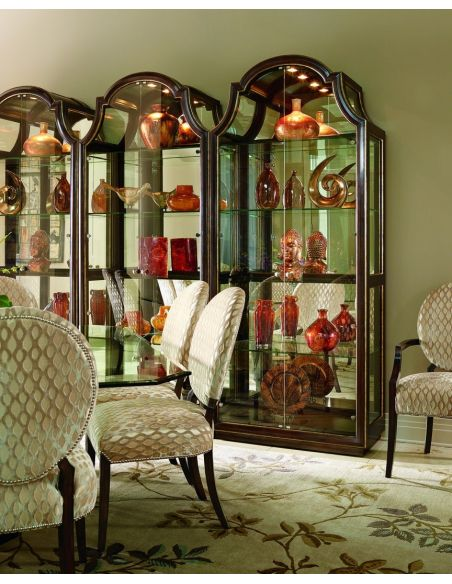 Display Cabinets and Armories Elegant Glass Front Curio Cabinet