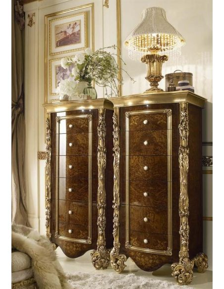 LUXURY BEDROOM FURNITURE Luxury makeup vanity with mirror fit for a true queen or princess.