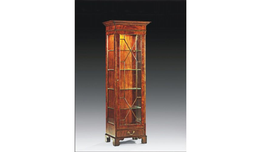 Breakfronts & China Cabinets High End Furniture One Door Display Cabinet