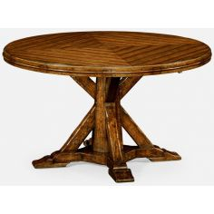 Captivating parquet dining table