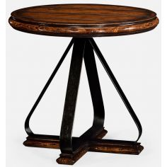 Round side table iron base