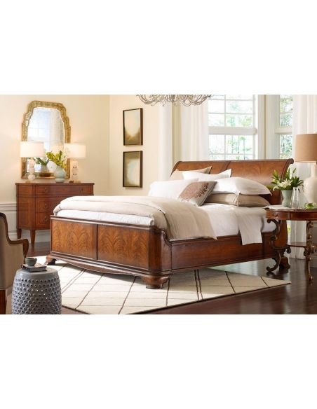 BEDS - Queen, King & California King Sizes King Size Walnut Sleigh bed