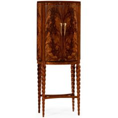 Bar cabinet walnut twist leg