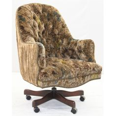 An elegant office desk chair in velvets