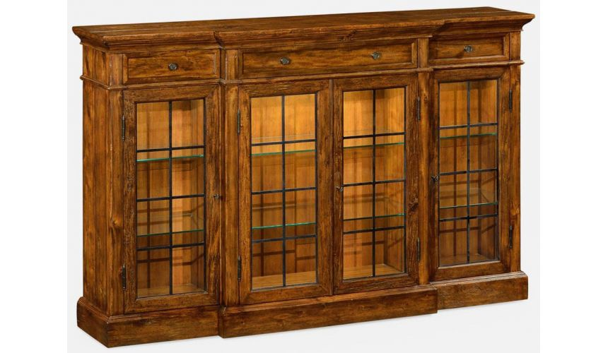 Display Cabinets and Armories Elegantly rustic display cabinet