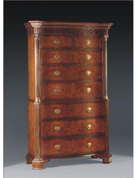 Chest on Chest Antique Reproduction Furniture