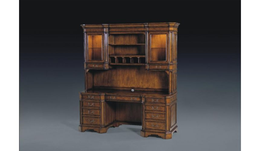 Executive Desks High End Dining Room Furniture Credenza And Hutch